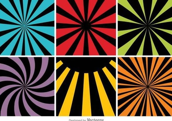 Colorful Abstract Backgrounds Set - Free vector #397075