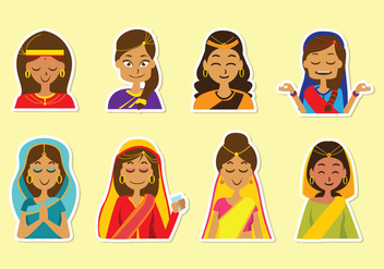 Free Indian Woman Vector - бесплатный vector #397105