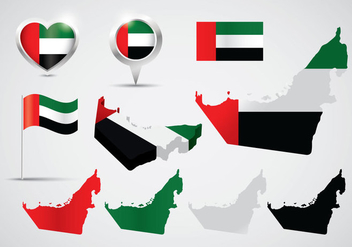 UAE Map Vectors - Free vector #397115