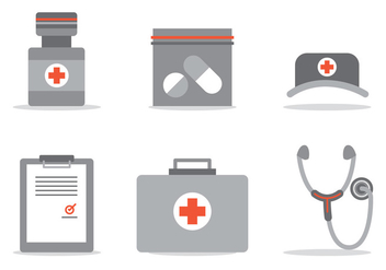 Medical Care Vector Set - vector gratuit #397165