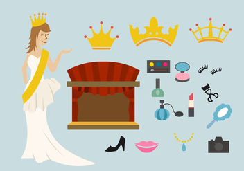 Pageant stuff vector starter pack - Free vector #397195