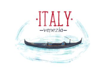 Free Italy Venice Watercolor Vector - бесплатный vector #397235