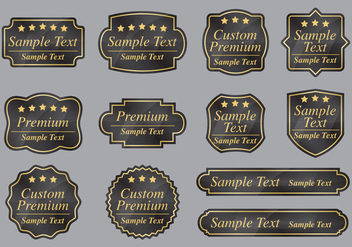 Custom Premium Labels - vector #397245 gratis