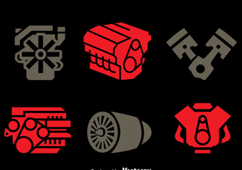 Engine Icons Vector Set - vector gratuit #397255