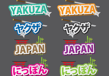 Yukuza And Japan Titles - Free vector #397265