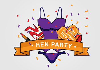 Hen Party Poster - Free vector #397325