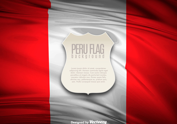 Peru Flag Illustration Banner - vector gratuit #397405