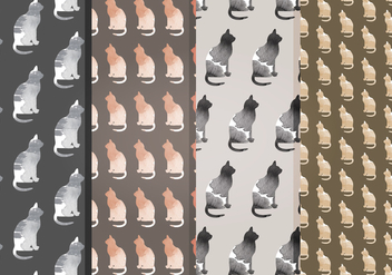 Vector Cat Patterns - vector gratuit #397455