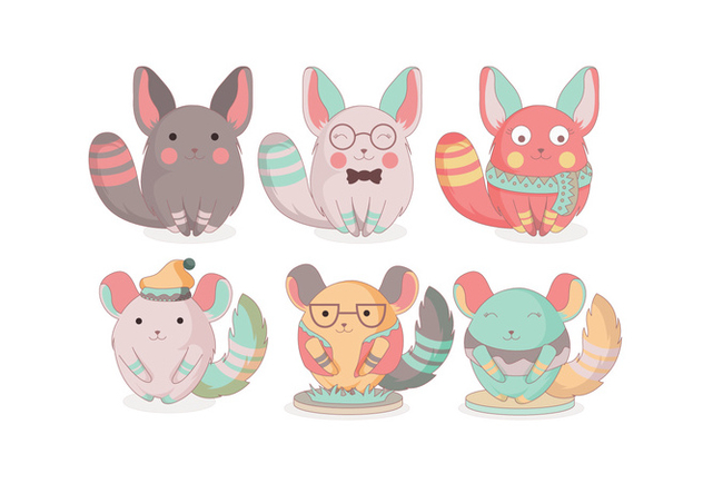 Chinchilla Cute Vector - Kostenloses vector #397535