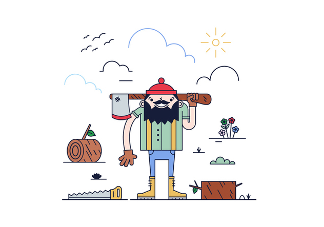 Free Woodcutter Vector - Free vector #397635