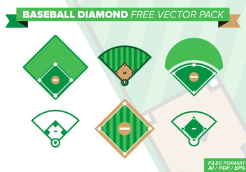Baseball Diamond Free Vector Pack - Free vector #397655