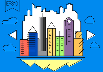 Free Vector City Illustration - Free vector #397675