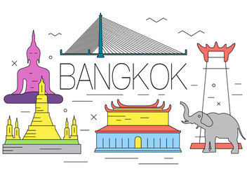 Free Bangkok Illustration - Free vector #397685