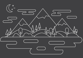 Free Landscape Vector Illustration - бесплатный vector #397885