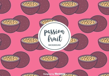 Passion Fruit Pattern Vector - Free vector #397905
