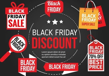 Free Black Friday Vector Icons - Kostenloses vector #397915