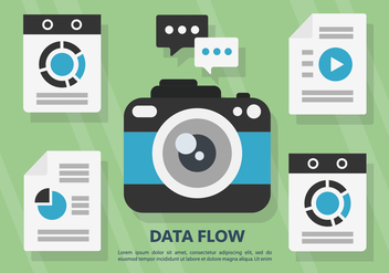 Free Data Flow Vector Illustration - Free vector #397945