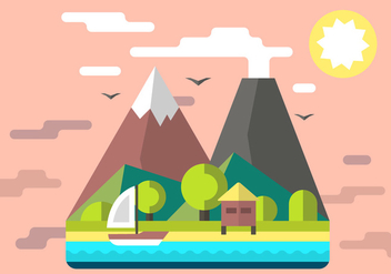Free Mountain Shack Vector Illustration - Free vector #397995
