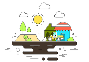 Construction Vector Illustration - vector #398005 gratis