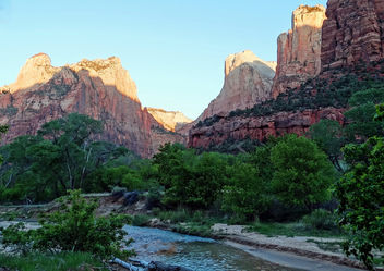 Sunrise on The Patriarchs, Zion NP 2014 - Kostenloses image #398035