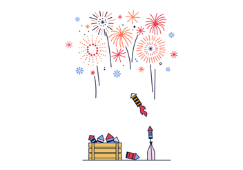 Free Fireworks Vector - Kostenloses vector #398105