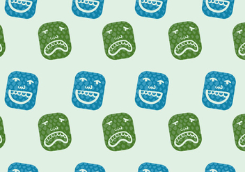 Free Teatro Seamless Pattern Vector Illustration - vector #398125 gratis