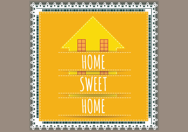 Lace Welcome Home Vector - Free vector #398165