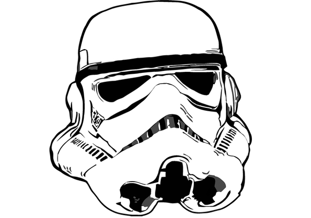 Star Wars - Storm Trooper Head / Helmet Free Vector ...