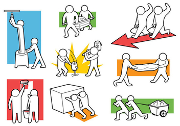 Free Working Together Icons - Free vector #398195