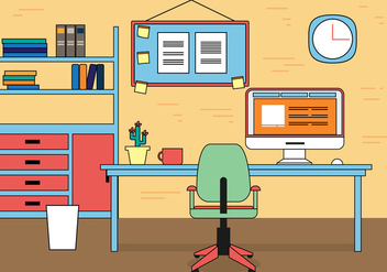 Free Work Space Vector Design - vector gratuit #398215