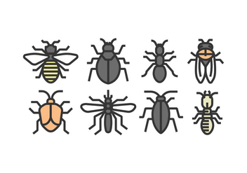Vector Insect Icons - vector gratuit #398265