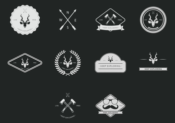 Kudu Hipster Icon Set - бесплатный vector #398295