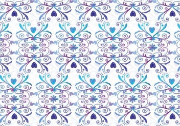 Blue and Purple Vector Watercolor Royal Background - Free vector #398315