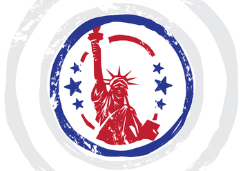 USA Stempel Vector Illustration - бесплатный vector #398355