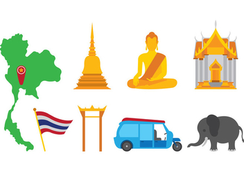 Bangkok Vector Icons - бесплатный vector #398445