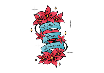 Mom Tattoo Vector - Kostenloses vector #398455