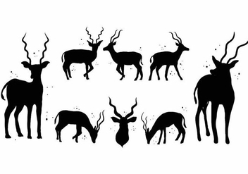 Free Kudu Silhouette Icon Set - бесплатный vector #398485