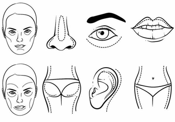 Plastic Surgery Icon Set - бесплатный vector #398585