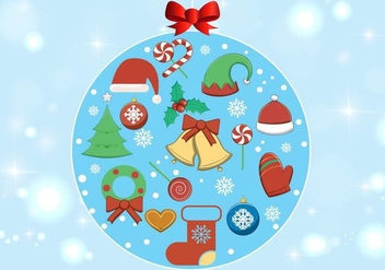 Free Vector Christmas Elements - vector gratuit #398705