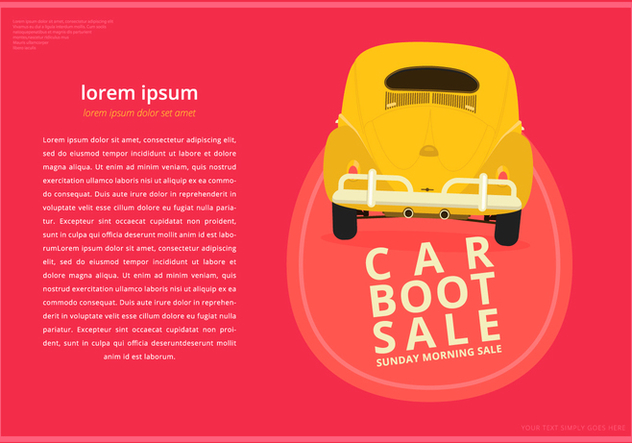 Car Boot Poster Templates - Free vector #398725