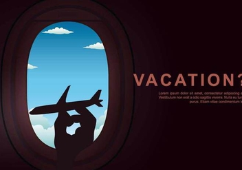 Vacation Plane Window Illustration - бесплатный vector #398815