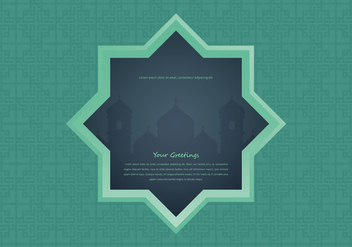 Arabian Night Mosque with Window Illustration - бесплатный vector #398825