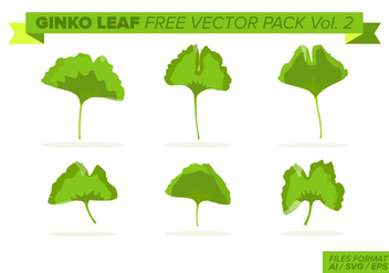 Ginko Leaf Free Vector Pack Vol. 2 - Kostenloses vector #398835