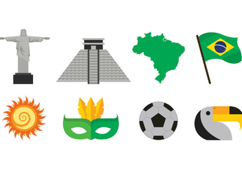 Set Of Samba Icons - Kostenloses vector #398885
