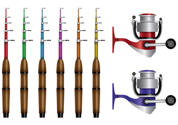 Fishing Rod Vectors - Free vector #398895