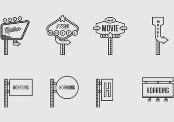 Hoarding Icons - Free vector #398905