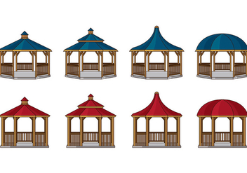 Gazebo Vector Icons - бесплатный vector #398915