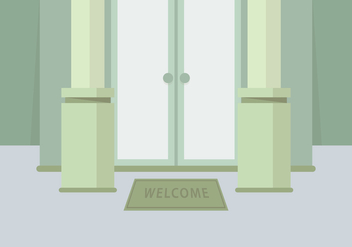 Welcome Mat Illustration - vector gratuit #398945