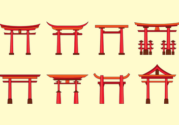 Torii Vector Icons - Free vector #398975