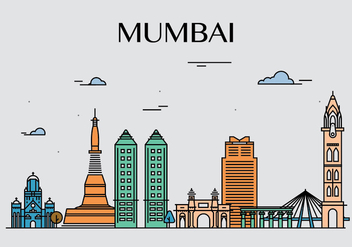 Mumbai landmark vectors - бесплатный vector #399085
